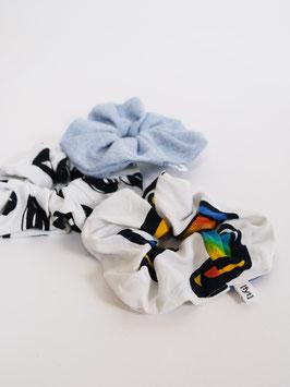 reworked scrunchie set denim
