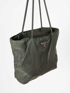 prada nylon bag dark green
