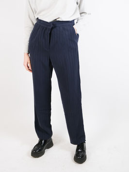 striped trousers navy