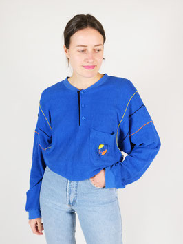 buttoned sweater blue