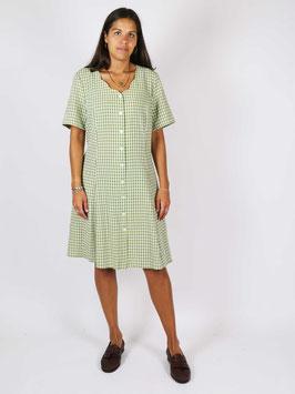 plaid dress green white