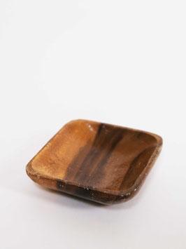 little square teak bowl