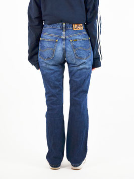 lee blue bell-bottoms jeans denim