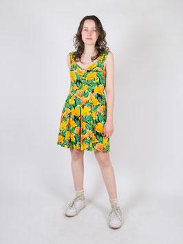 pattern dress green