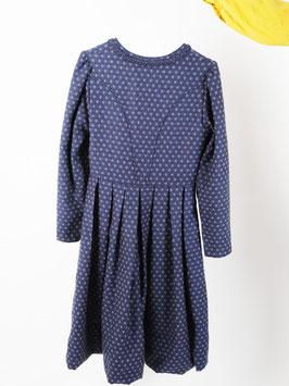 wool handmade dirndl pattern blue