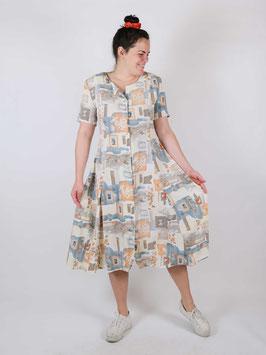 beige pattern dress