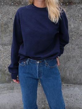 embroidered fyt sweater navy