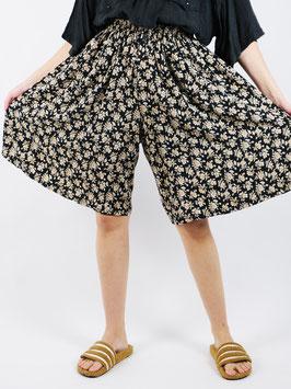 floral pattern shorts black