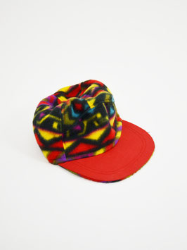 fleece cap red pattern