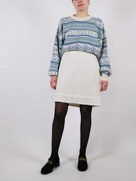 knit skirt elastic waist creme