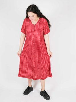 polka dots dress red white