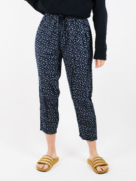 pattern pants navy and white