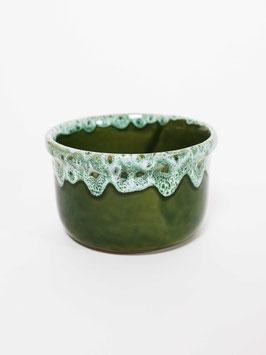 bowl green speckled