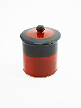 ceramic can red
