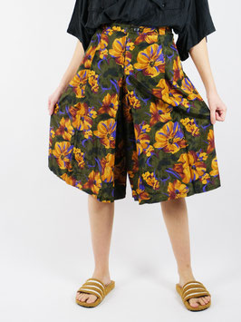 floral pattern shorts green