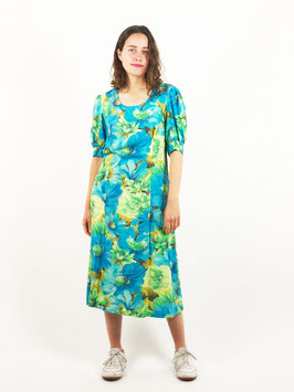 floral dress green and blue