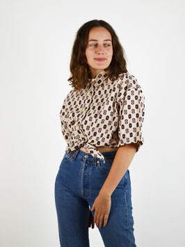 beige pattern shirt