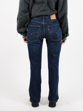 levis flared jeans 525 blue
