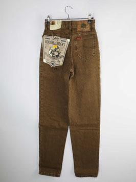 lee deadstock jeans rough riders brown