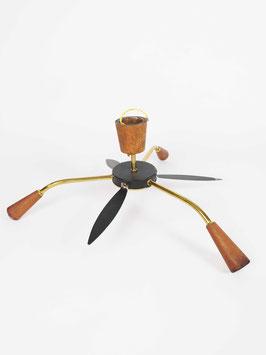 ceiling lamp sputnik midcentury wood brazen