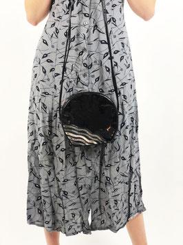 black shiny purse