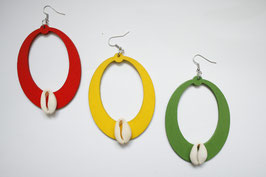 Rasta Shell Earrings
