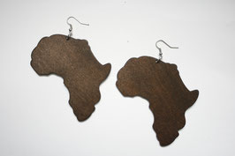 "Wooden ""Africamap"" Earrings"