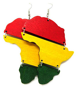 "Africa Earrings ""Red-Gold-Green"""