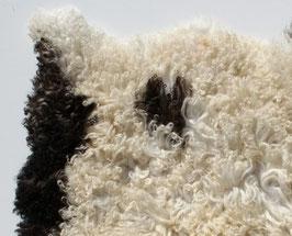 Schapenvacht wit, creme, bruin 89x70 cm ( 137)