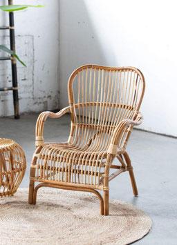 """Rotan stoel """"Blond"""" met of zonder Poef"""