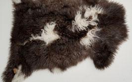 Schapenvacht diverse tinten bruin grijs en wit