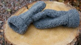 Wanten van geschoren schapenwol antraciet