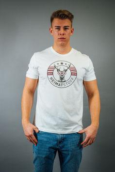 T-Shirt Herren Heimatstoff weiß