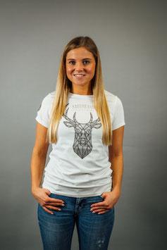 T-Shirt Damen Polybeton weiß