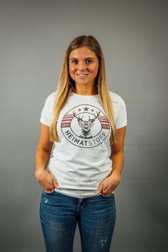 T-Shirt Damen Heimatstoff weiß