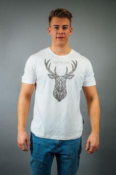 T-Shirt Herren Polybeton weiß