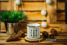 Emaille Tasse SAU-ERL-AND