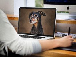 Digitale Zeichnung von deinem Haustier
