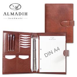 ALMADIH Leder-Konferenzmappe A4 - braun Végétal