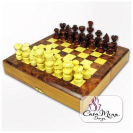 Schachspiel Burlwood 20x20cm