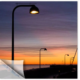 StadtSicht Kopenhagen, Laterne im Abendrot 002