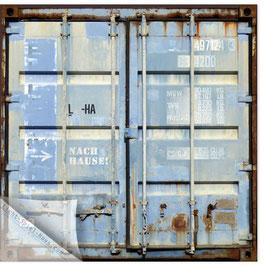 "Container blau 202, ""Nach Hause!"""