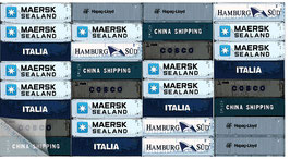 Hamburgensie 061, Containerstapel