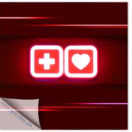 StadtSicht Zürich 086b, Kreuz mit Herz 001