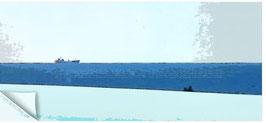 Ostsee 005, Containerschiff am Horizont