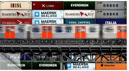Hamburgensie 058b, U-Bahn vor Container