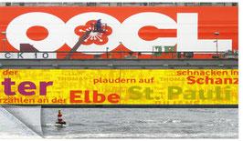 Hamburgensie 038, Containerschiff im Dock