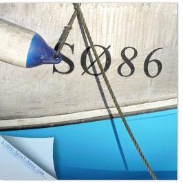 StadtSicht Kopenhagen, Blaue Schiffswand mit Tau 002