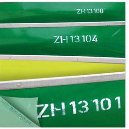 StadtSicht Zürich 121d, Ruderboote grün 002