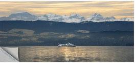 "ZRH Seeschiff 003, Seeschiff ""Uetliberg"" mit Alpenpanorama"